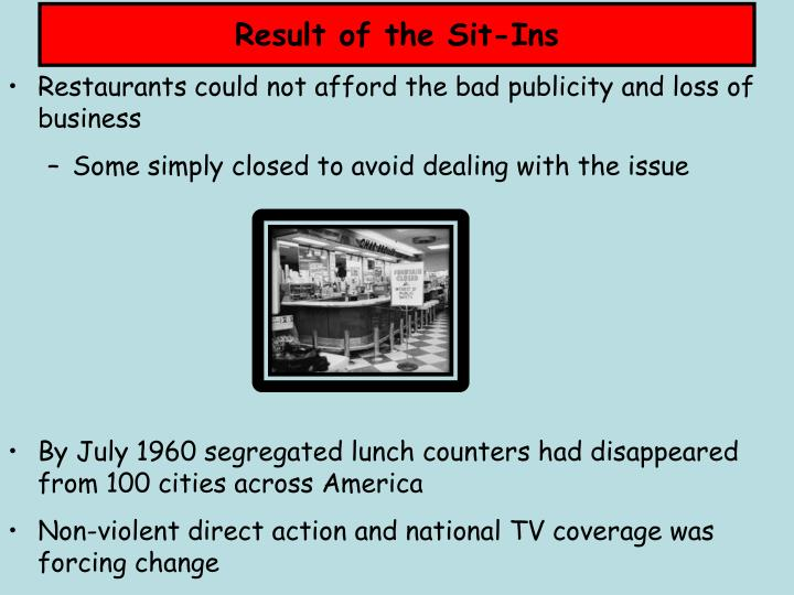 Result of the Sit-Ins
