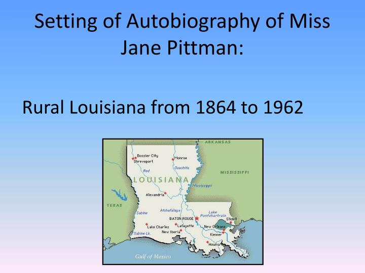 autobiography of miss jane pittman essays