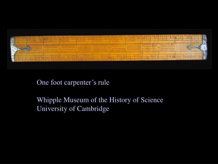 One foot carpenter's rule
