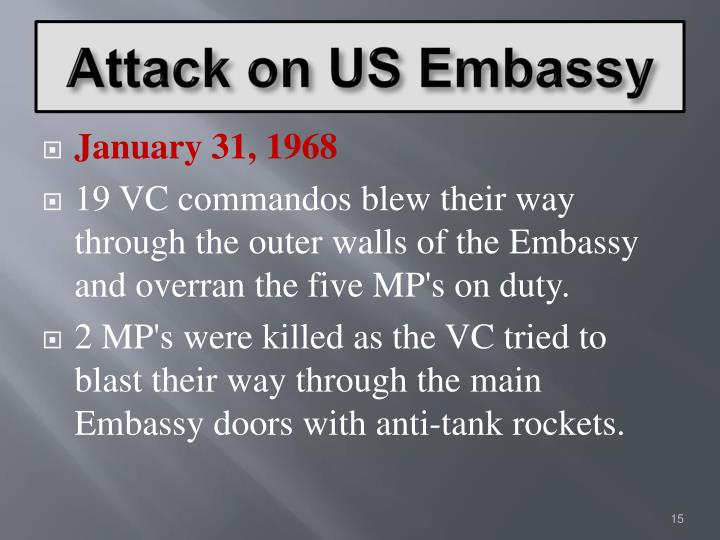 Attack on US Embassy