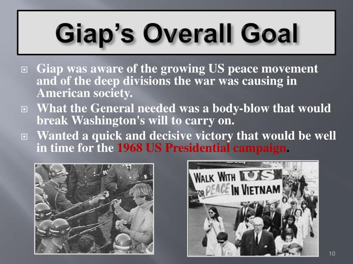 Giap's Overall Goal