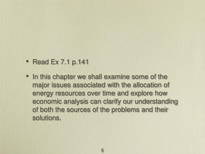 Read Ex 7.1 p.141