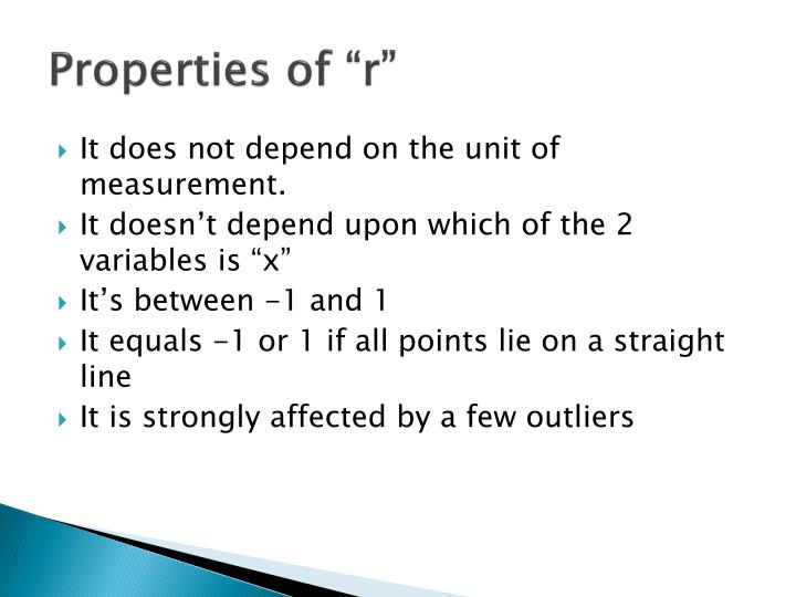 "Properties of ""r"""