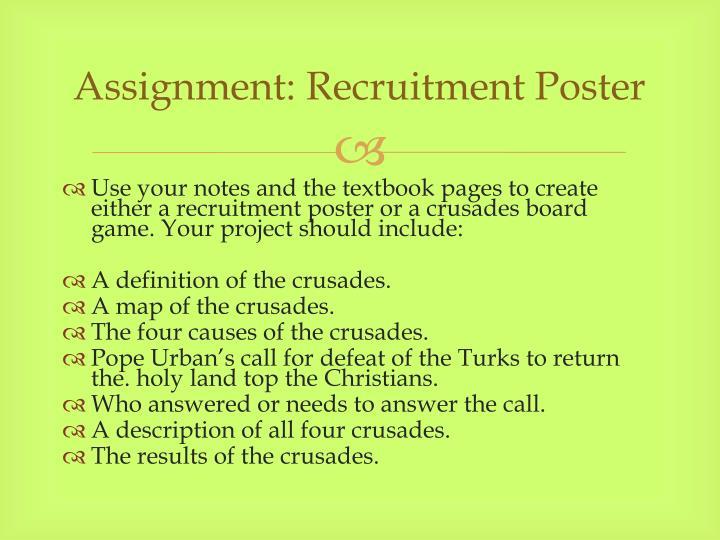 Assignment: Recruitment Poster