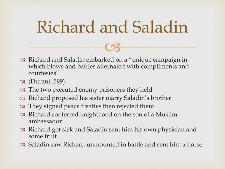 Richard and Saladin