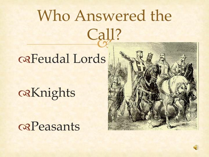 Who Answered the Call?
