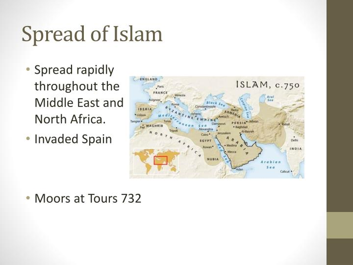 spread of islam in europe essay The spread of buddhism and christianity the spread of christianity throughout europe essay the spread and localization of.