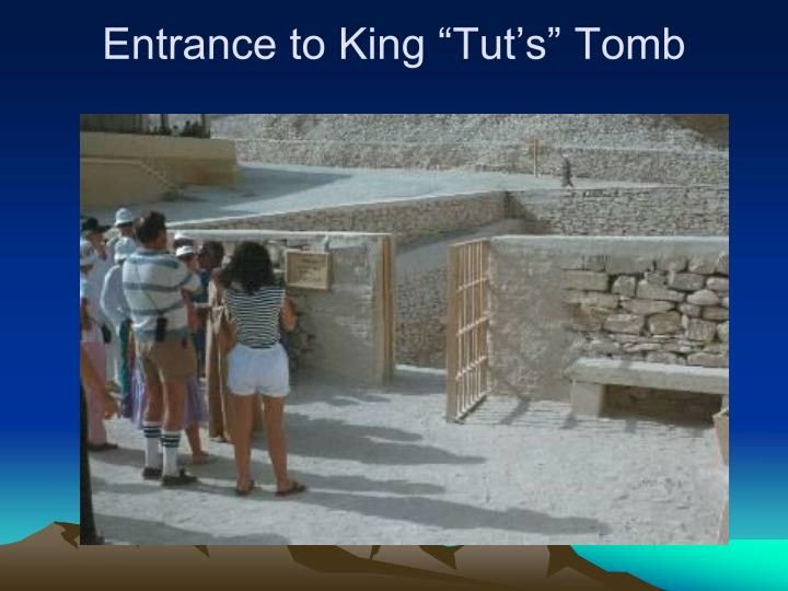 "Entrance to King ""Tut's"" Tomb"
