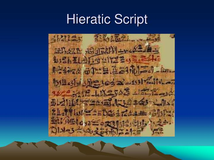Hieratic Script