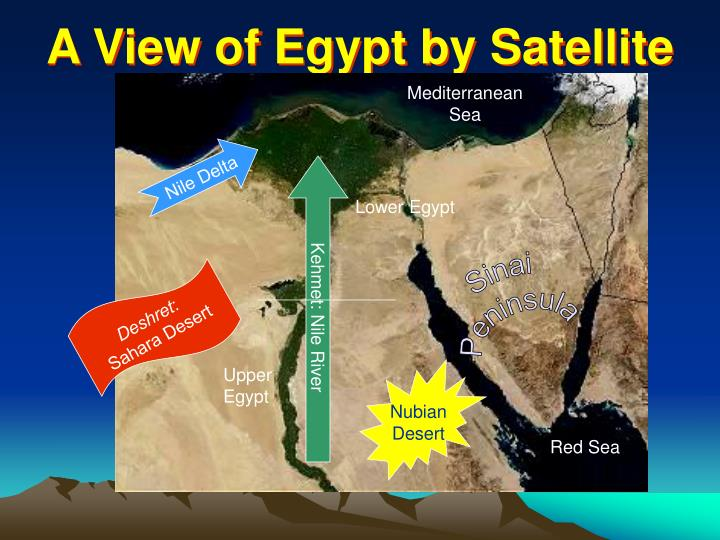 A View of Egypt by Satellite