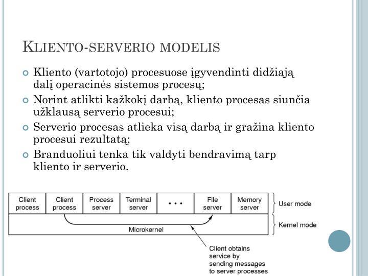 Kliento-serverio modelis