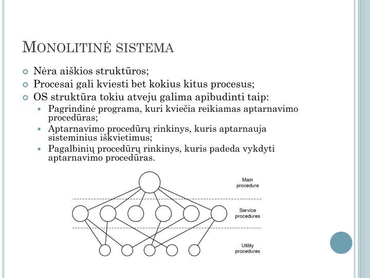 Monolitinė sistema