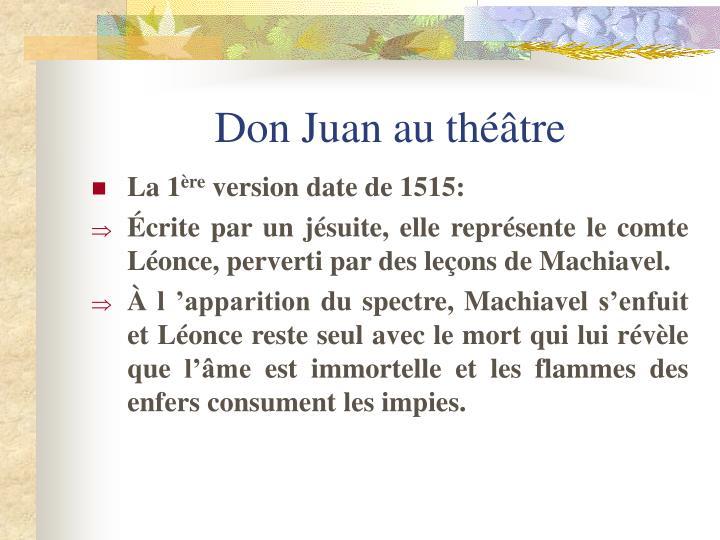 Don Juan au théâtre