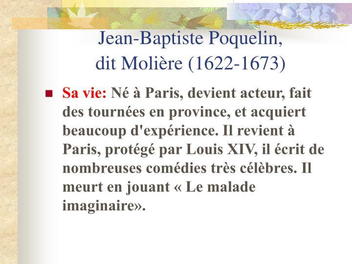 Jean-Baptiste Poquelin,