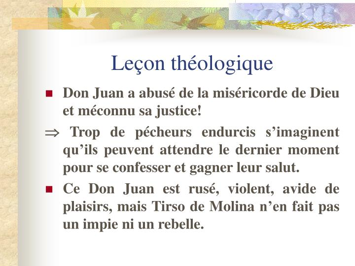 Leçon théologique
