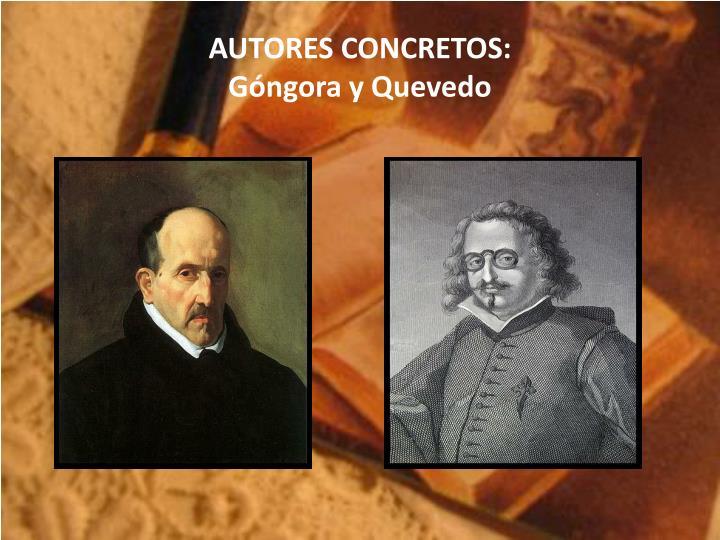 AUTORES CONCRETOS: