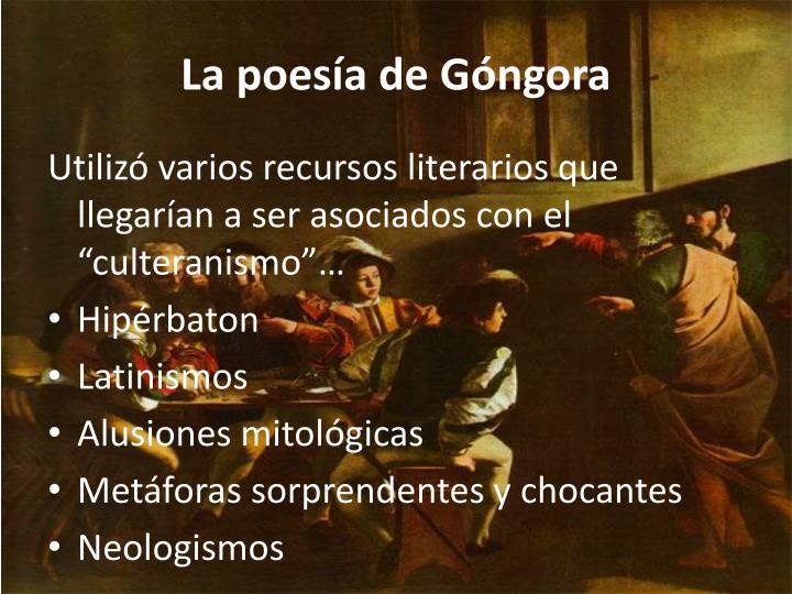 La poesía de Góngora