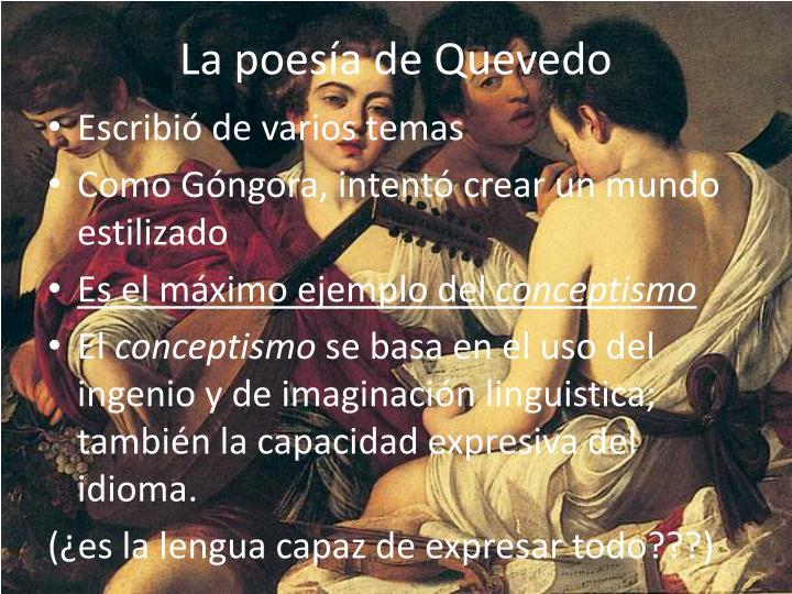 La poesía de Quevedo
