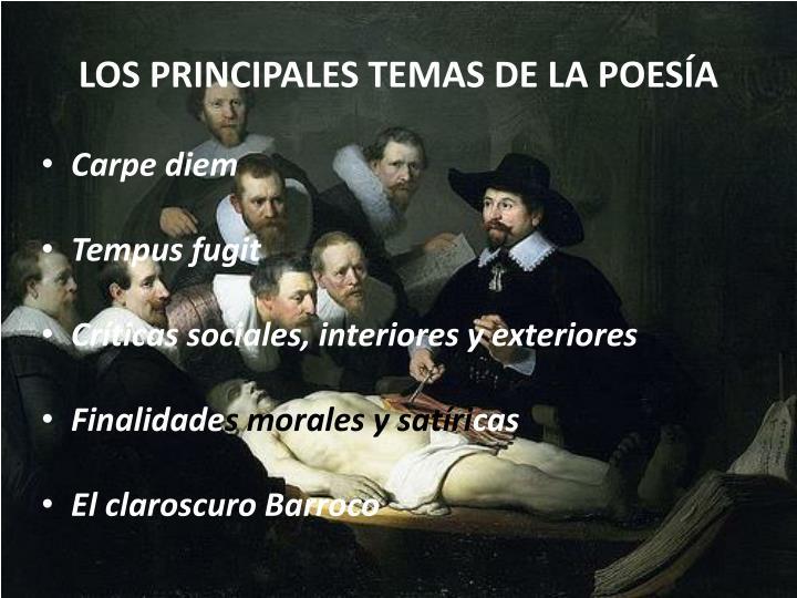 LOS PRINCIPALES TEMAS DE LA POESÍA