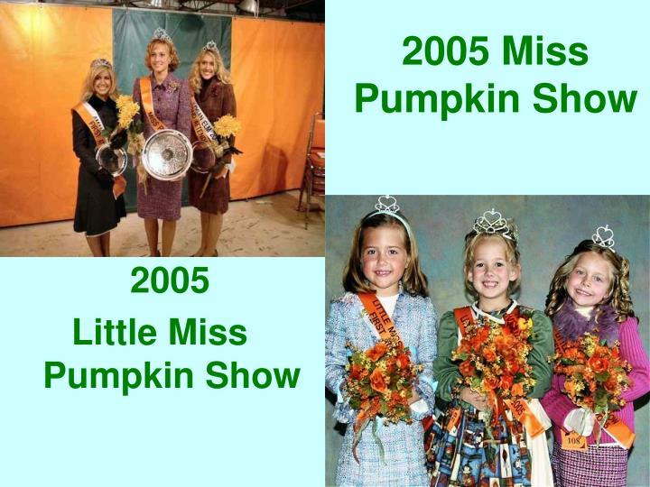 2005 Miss Pumpkin Show