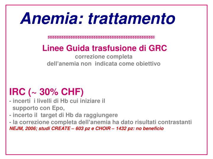 Anemia: trattamento