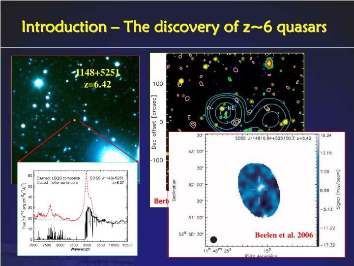 Introduction – The discovery of z~6 quasars