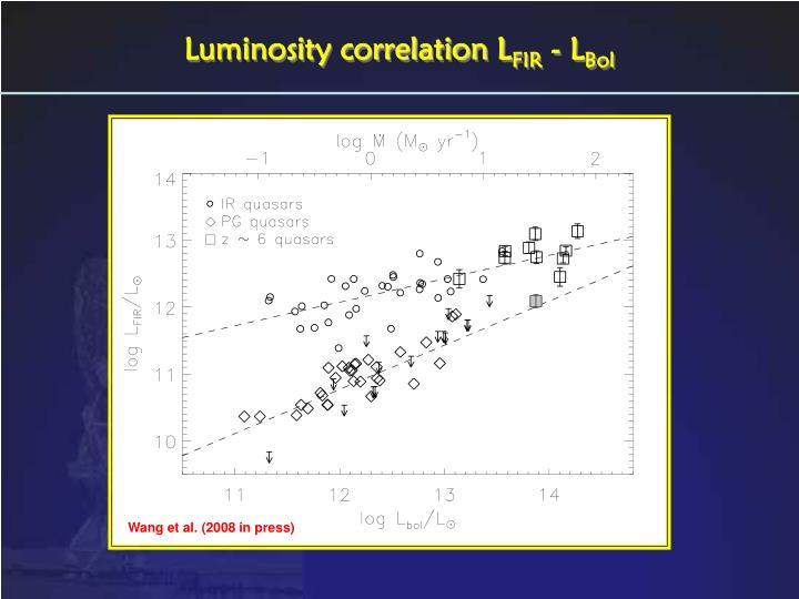 Luminosity correlation L