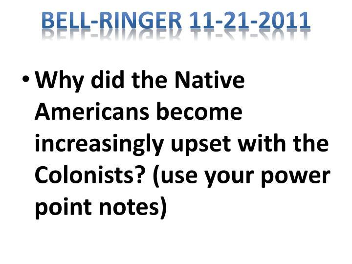 Bell-Ringer 11-21-2011