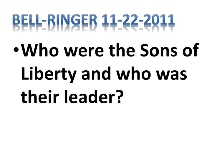Bell-Ringer 11-22-2011