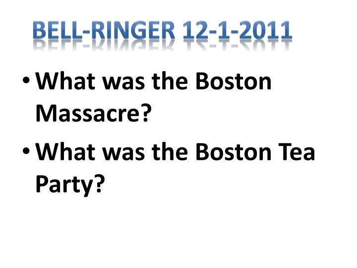 Bell-Ringer 12-1-2011