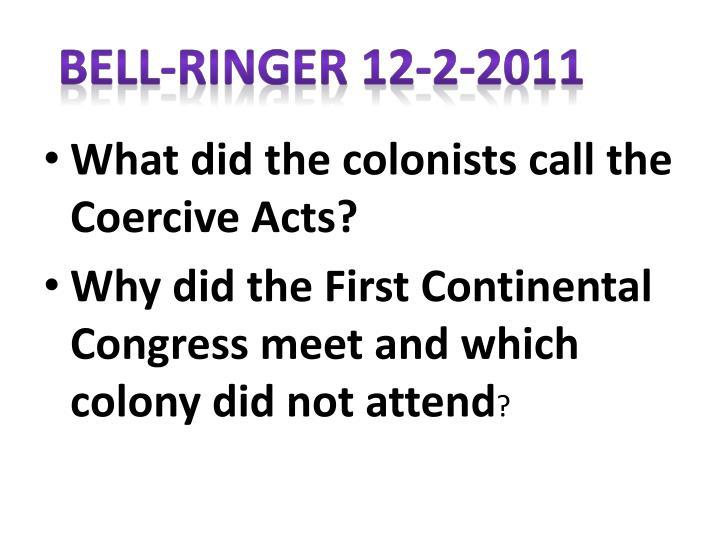 Bell-Ringer 12-2-2011