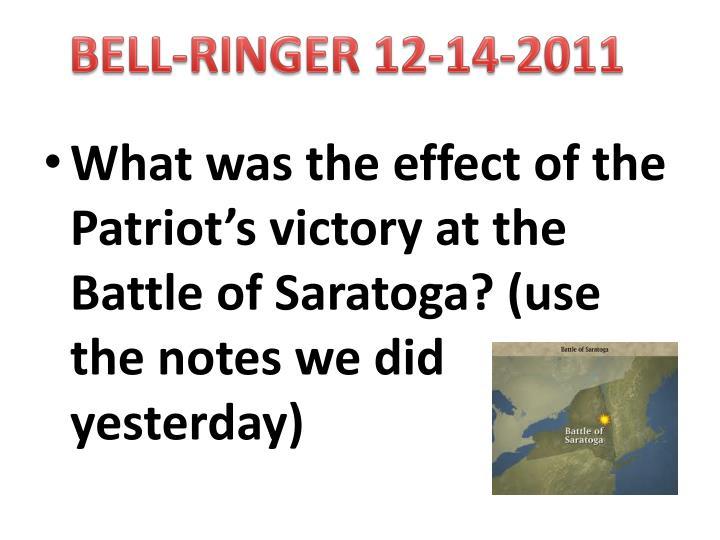 BELL-RINGER 12-14-2011