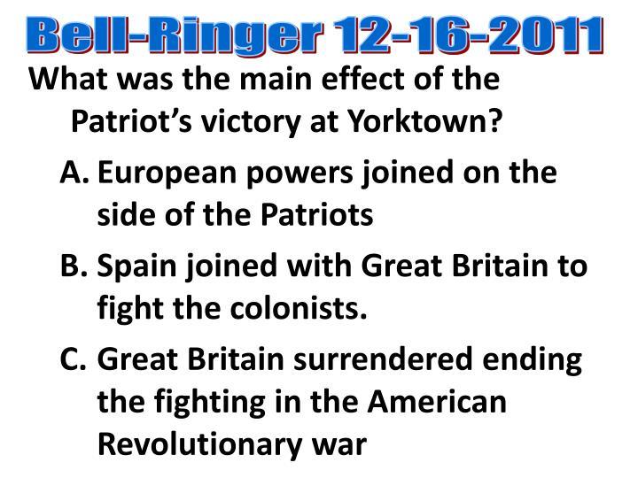 Bell-Ringer 12-16-2011