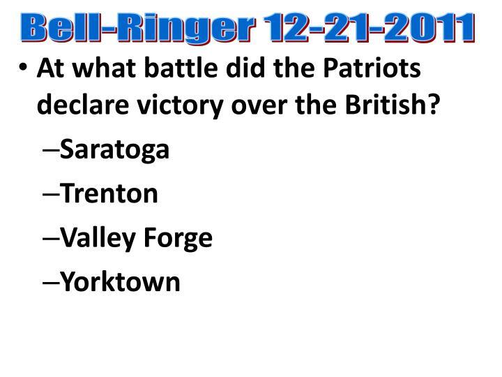 Bell-Ringer 12-21-2011