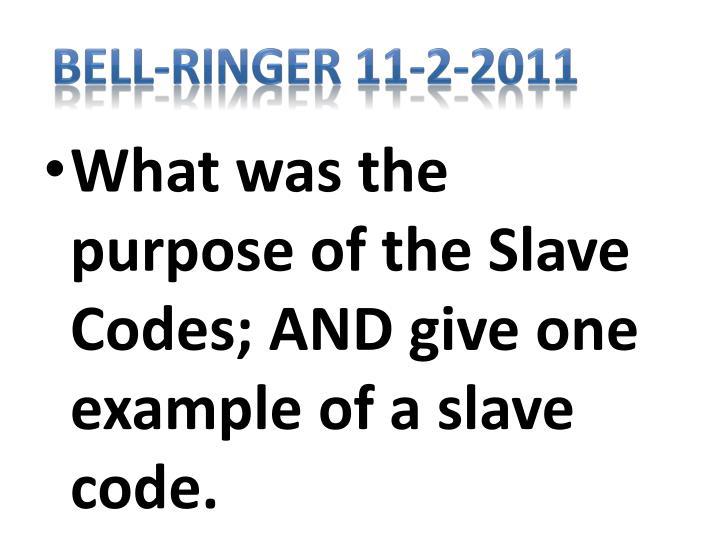Bell-Ringer 11-2-2011