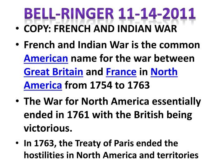 Bell-Ringer 11-14-2011