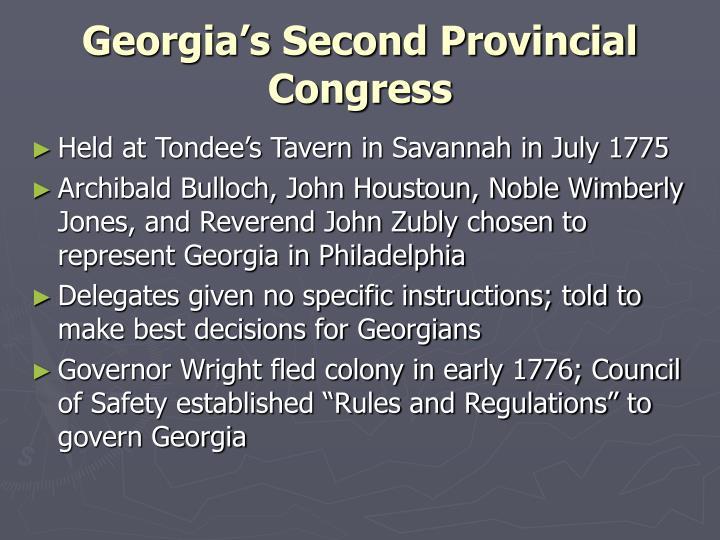 Georgia's Second Provincial Congress