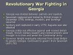 revolutionary war fighting in georgia