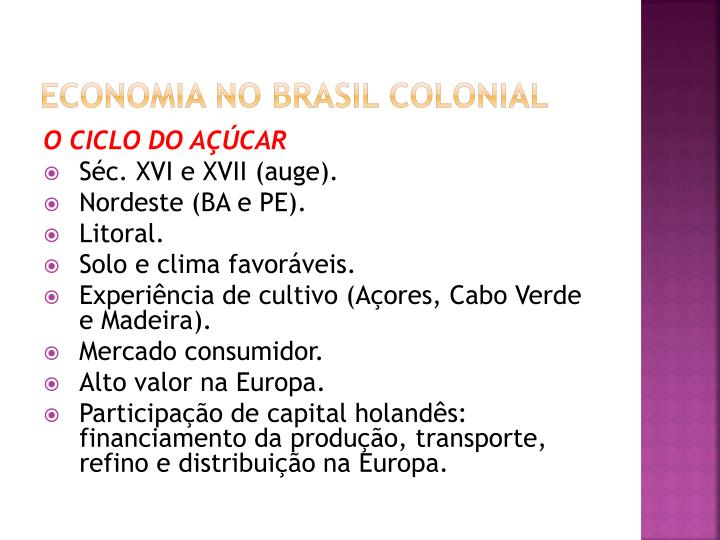 Economia no Brasil colonial