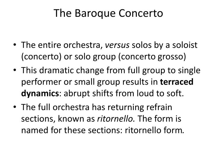 The Baroque Concerto