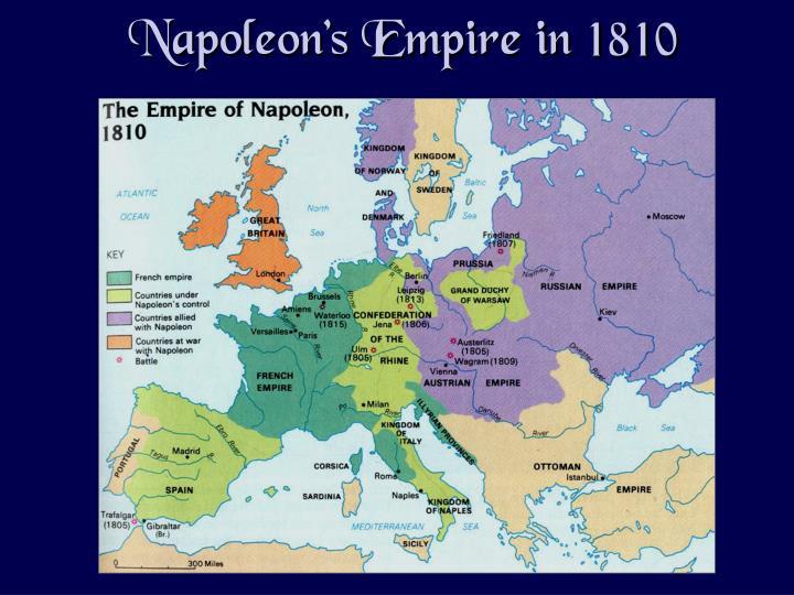 Napoleon's Empire in 1810