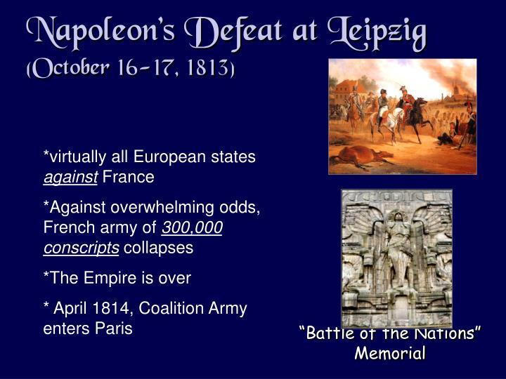 Napoleon's Defeat at Leipzig