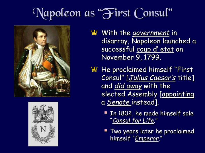 "Napoleon as ""First Consul"""