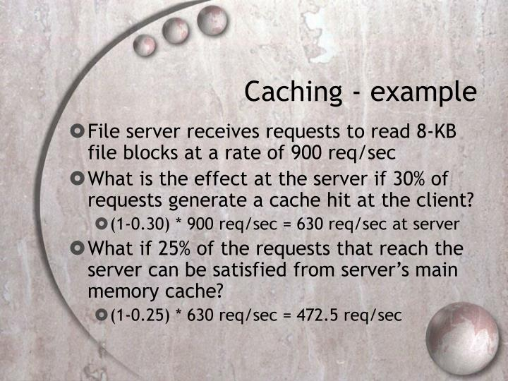 Caching - example