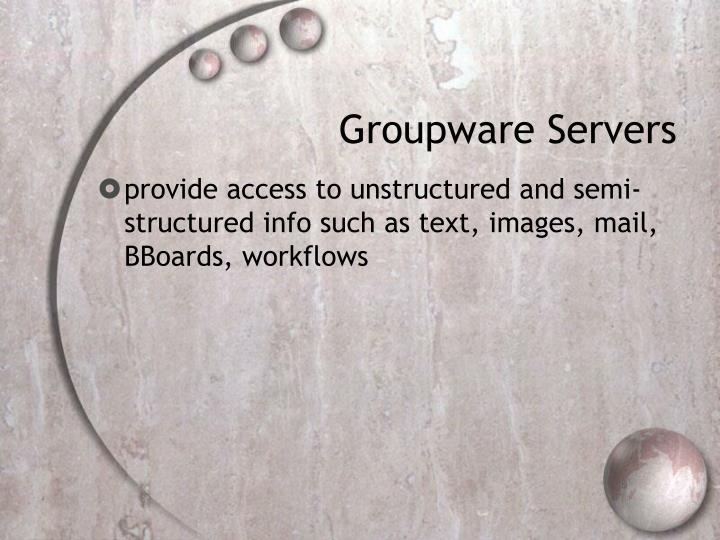Groupware Servers