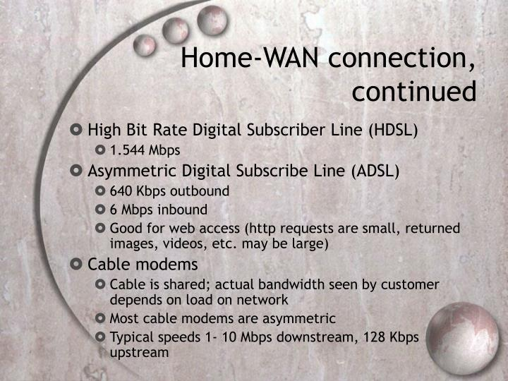 Home-WAN connection,