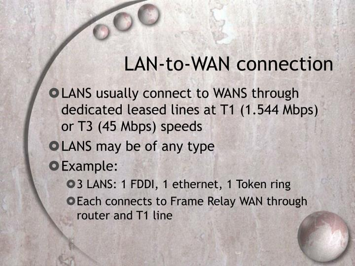 LAN-to-WAN connection