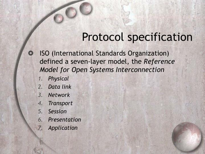 Protocol specification
