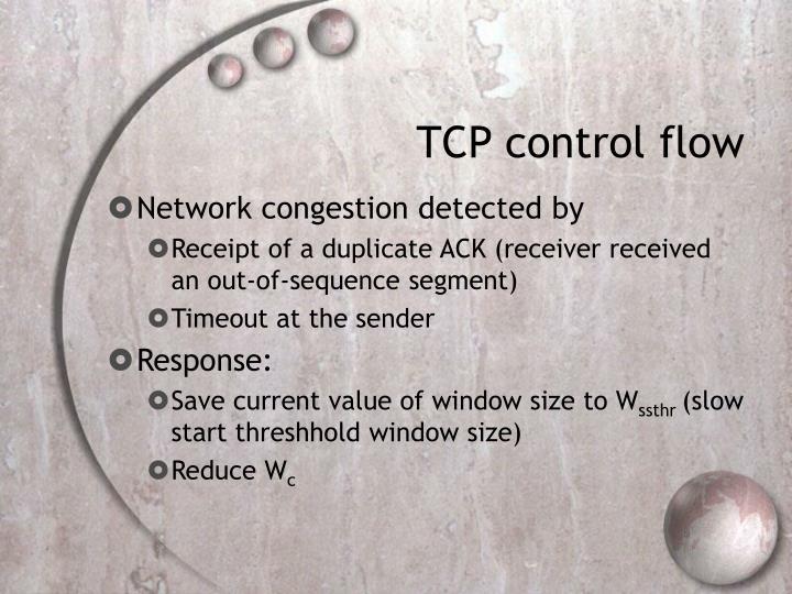 TCP control flow