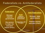federalists vs antifederalists